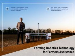 Farming Robotics Technology For Farmers Assistance