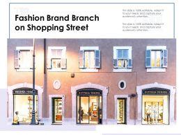 Fashion Brand Branch On Shopping Street