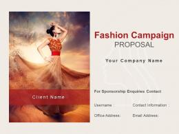 Fashion Campaign Proposal Powerpoint Presentation Slides