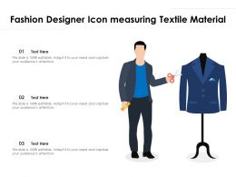 Fashion Designer Icon Measuring Textile Material