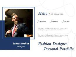Fashion Designer Personal Portfolio
