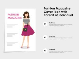 Fashion Magazine Cover Icon With Portrait Of Individual
