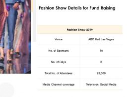 Fashion Show Details For Fund Raising Ppt Powerpoint Presentation File Styles