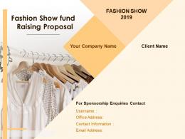 Fashion Show Fund Raising Proposal Powerpoint Presentation Slides