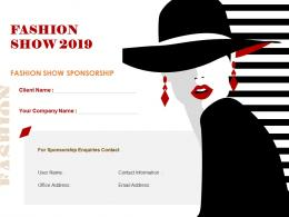 Fashion Show Sponsorship Proposal Powerpoint Presentation Slides