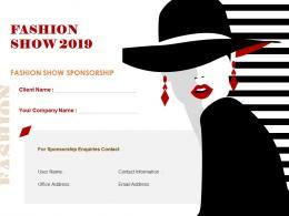 Fashion Show Sponsorship Proposal Powerpoint Presentation Slides