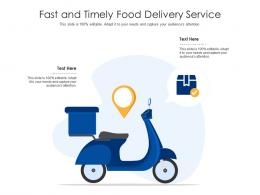 Fast And Timely Food Delivery Service Infographic Template