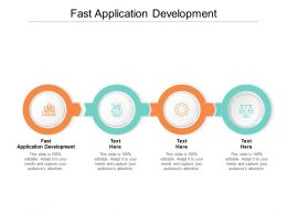 Fast Application Development Ppt Powerpoint Presentation Portfolio Designs Cpb