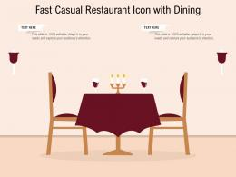 Fast Casual Restaurant Icon With Dining