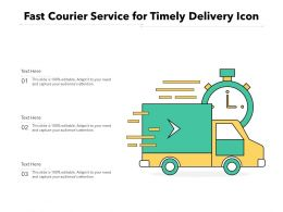 Fast Courier Service For Timely Delivery Icon