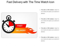 Fast Delivery With The Time Watch Icon