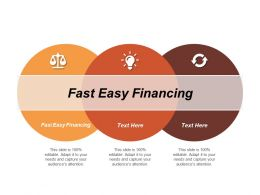 Fast Easy Financing Ppt Powerpoint Presentation Icon Gallery Cpb
