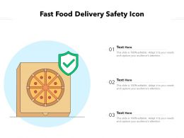 Fast Food Delivery Safety Icon