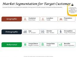 Fast Food Restaurant Business Market Segmentation For Target Customer Ppt Powerpoint