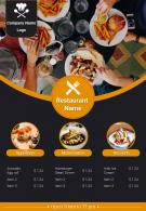 Fast Food Restaurant Menu Brochure Two Page Flyer Template