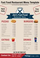 Fast Food Restaurant Menu Template Presentation Report Infographic PPT PDF Document