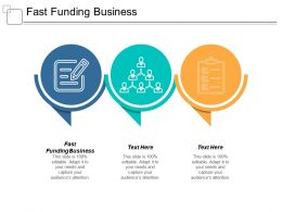 Fast Funding Business Ppt Powerpoint Presentation Gallery Slide Cpb
