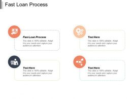 Fast Loan Process Ppt Powerpoint Presentation Gallery Information Cpb