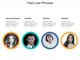 Fast Loan Process Ppt Powerpoint Presentation Ideas Visuals Cpb