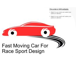 Fast Moving Car For Race Sport Design