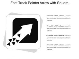 Fast Track Pointer Arrow With Square