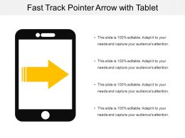 Fast Track Pointer Arrow With Tablet