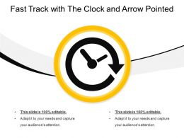 Fast Track With The Clock And Arrow Pointed