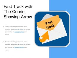 Fast Track With The Courier Showing Arrow