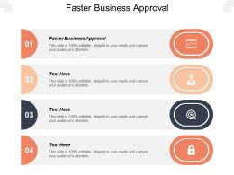 Faster Business Approval Ppt Powerpoint Presentation Gallery Example File Cpb