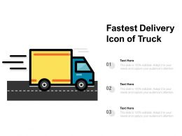 Fastest Delivery Icon Of Truck
