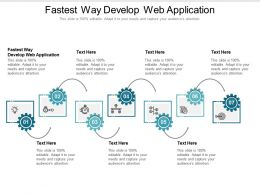 Fastest Way Develop Web Application Ppt Powerpoint Presentation Styles Clipart Images Cpb