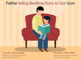 Father Telling Bedtime Story To Son Icon