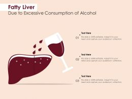 Fatty Liver Due To Excessive Consumption Of Alcohol