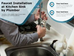 Faucet Installation At Kitchen Sink By Plumber