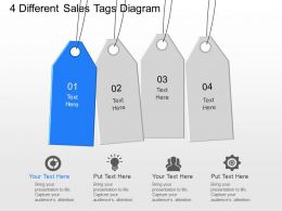 fb 4 Different Sales Tags Diagram Powerpoint Template