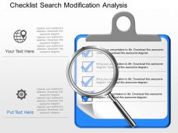 fb Checklist Search Modification Analysis Powerpoint Template