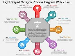 Fb Eight Staged Octagon Process Diagram With Icons Flat Powerpoint Design