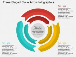 fb Three Staged Circle Arrow Infographics Flat Powerpoint Design