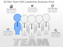 fc 3d Men Team With Leadership Business Work Powerpoint Template