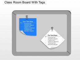 fc Class Room Board With Tags Powerpoint Template