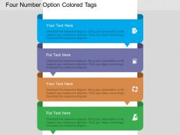 fc Four Number Option Colored Tags Flat Powerpoint Design