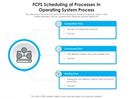 FCFS Scheduling Of Processes In Operating System Process