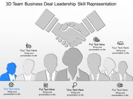 fd 3d Team Business Deal Leadership Skill Representation Powerpoint Template