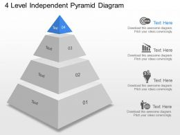 fd 4 Level Independent Pyramid Diagram Powerpoint Template
