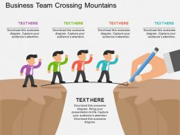 Fd Business Team Crossing Mountains Flat Powerpoint Design