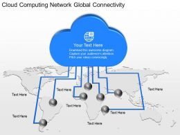 fd Cloud Computing Network Global Connectivity Powerpoint Template