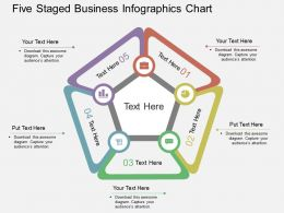 Fd Five Staged Business Infographics Chart Flat Powerpoint Design