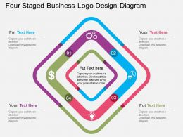 fd Four Staged Business Logo Design Diagram Flat Powerpoint Design