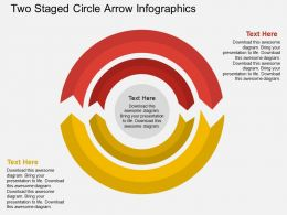 fd Two Staged Circle Arrow Infographics Flat Powerpoint Design