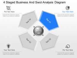 fe 4 Staged Business And Swot Analysis Diagram Powerpoint Template
